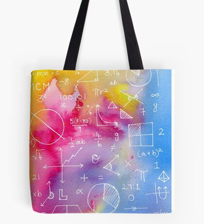 Math formulae (watercolor background) Tote Bag
