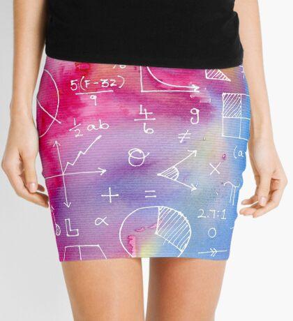 Math formulae (watercolor background) Mini Skirt