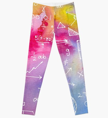 Math formulae (watercolor background) Leggings