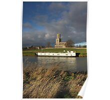 Houseboat and Church Poster