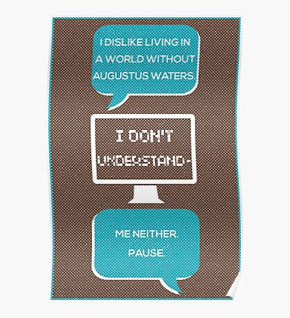 tfios - a world without Augustus Water (brown) Poster