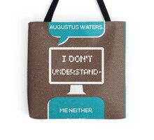 tfios - a world without Augustus Water (brown) Tote Bag
