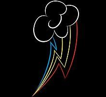 Rainbow Dash Neon iPhone Case by xHAZARD78x