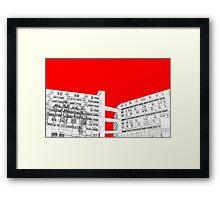 Park Hill Red Framed Print