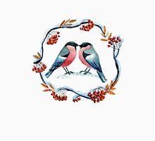 Bullfinch on mountain ash Unisex T-Shirt