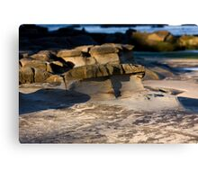 Sculpted By Wind And Water - Beachcomber Series Canvas Print