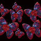 Butterflies in Red by CarolM