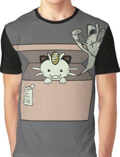 SCHRÖDINGER'S CAT IS...MEOWTH Graphic T-Shirt