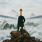 Art Giraffe- Wanderer Above The Sea Of Fog by Sundayink