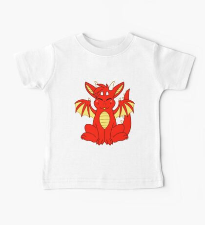 Cute Chibi Red Dragon Baby Tee