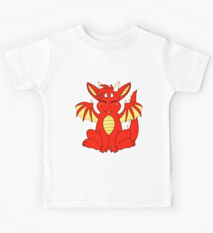 Cute Chibi Red Dragon Kids Tee