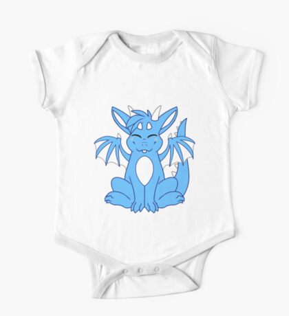 Cute Chibi Blue Dragon One Piece - Short Sleeve