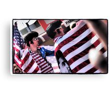Red, White and Blue in Parkes Canvas Print