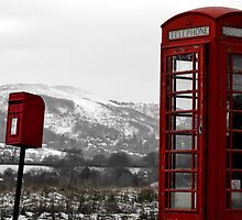 The Phone Box and Postbox - Malvern by forestspadge