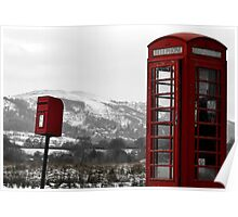 The Phone Box and Postbox - Malvern Poster