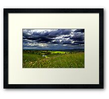 Angry Sky - Newent  Framed Print