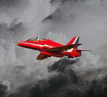 Red Arrows Hawk by J Biggadike