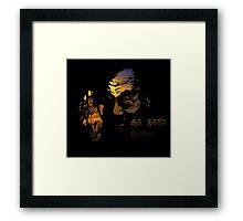 Tibetan Sunset Dalai Lama  Framed Print