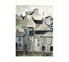 The Sea Front, Staithes Art Print