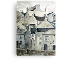 The Sea Front, Staithes Metal Print