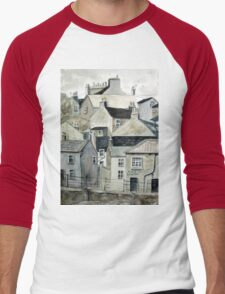 The Sea Front, Staithes Men's Baseball ¾ T-Shirt