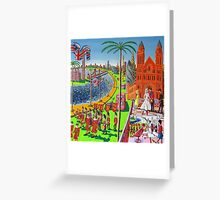 The wedding of Prince William and Kate Middleton Royal Wedding Queen London UK Greeting Card