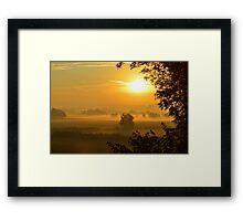 Sunrise over Gloucester Framed Print