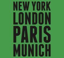 New York, London, Paris, Munich - [Black] Kids Clothes