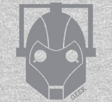 Geek Shirt #1 Cyberman Grey One Piece - Long Sleeve