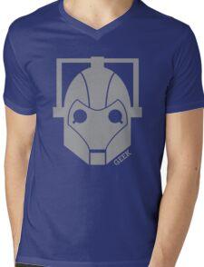 Geek Shirt #1 Cyberman Grey Mens V-Neck T-Shirt