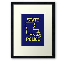 True Detective - Louisiana State Police Framed Print