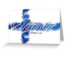 Iceman Finland Flag - Card Greeting Card