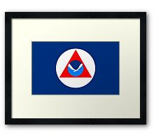 Flag of the National Oceanic and Atmospheric Administration Framed Print