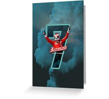 7 - Iceman - iPhone, Samsung case Greeting Card