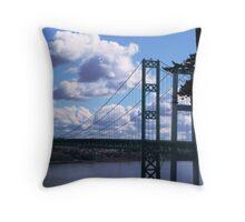 THE TACOMA NARROWS BRIDGE  Throw Pillow