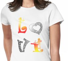 Love6 Womens Fitted T-Shirt