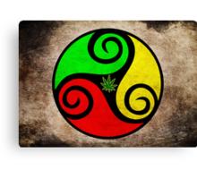 Grunge Reggae Love Vibes - Cool Weed Cannabis Reggae Rasta T-Shirt Prints Stickers Canvas Print