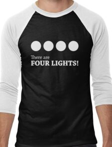 There are FOUR LIGHTS! (White Ink) Men's Baseball ¾ T-Shirt