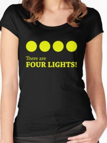 There are FOUR LIGHTS! (Yellow Ink) Women's Fitted Scoop T-Shirt