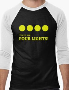There are FOUR LIGHTS! (Yellow Ink) Men's Baseball ¾ T-Shirt