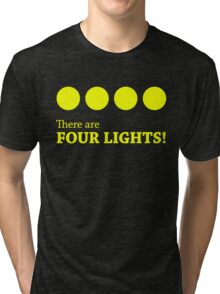 There are FOUR LIGHTS! (Yellow Ink) Tri-blend T-Shirt