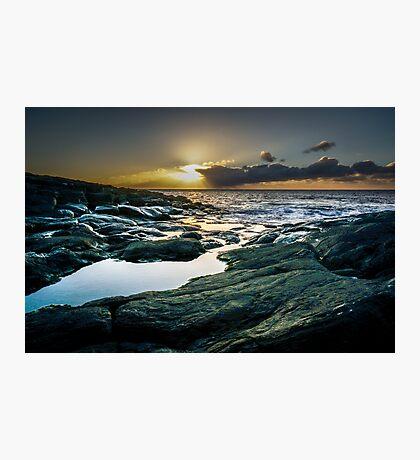 Sunset at Norwegian sea Photographic Print