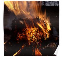 Bonfire burning bright Poster