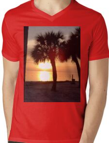 Sunset over the Gulf of Mexico, FL Mens V-Neck T-Shirt