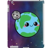 Kawaii Earth & Moon iPad Case/Skin