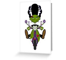 Bride of Frankenstein on Scooter Greeting Card