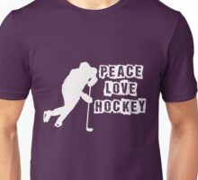 Peace, Love, Hockey Unisex T-Shirt