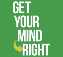 Get Your Mind Right By AiReal Apparel Baby Tee