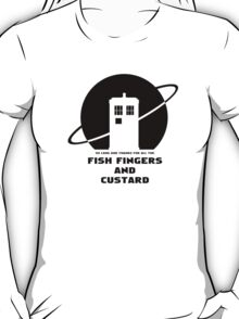 SO LONG AND THANKS FOR ALL THE FISH FINGERS AND CUSTARD BLACK T-Shirt