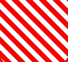 Red Pin Stripes Heart Sticker